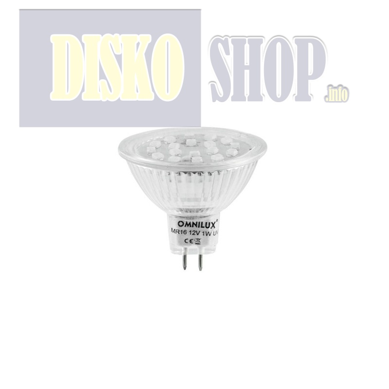 12V MR-16 GX-5.3 Omnilux, 18 LED UV aktiv