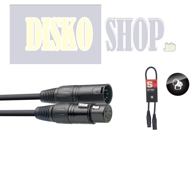 Stagg SDX0,5-5, kabel DMX 5-pin, 0,5m