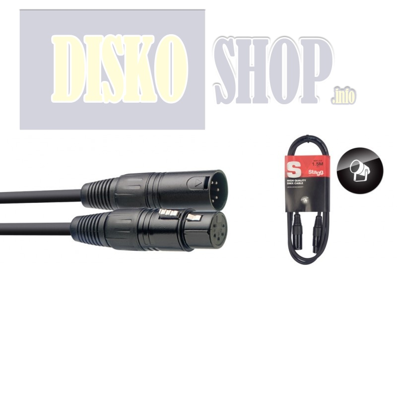 Stagg SDX1,5-5, kabel DMX 5-pin, 1,5m